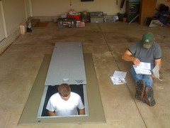 Installation of a Flatsafe.com tornado shelter