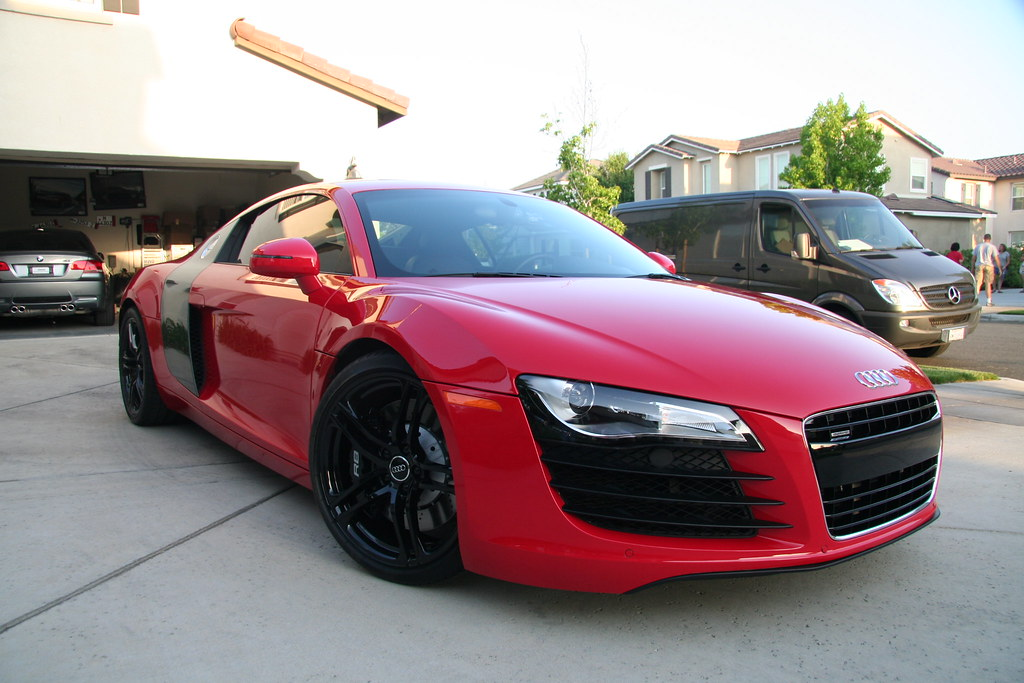 Concours Finish Detailed Audi R8 in Brilliant Red