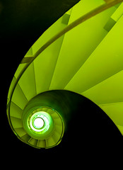 Spiral Staircase in Black and Green (yushimoto_02 [christian]) Tags: church architecture stairs canon germany munich mnchen geotagged deutschland arquitectura europe stair kirche treppe escalera staircase architektur munchen muenchen circular escaleras residenz architectura treppen circularstairs wendeltreppe mywinners abigfave anawesomeshot colorphotoaward allerheiligenhofkirche theunforgettablepictures unusualviewsperspectives