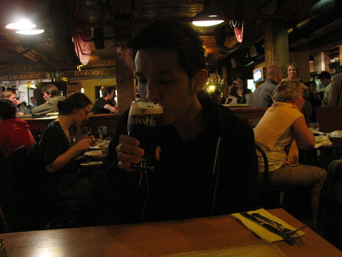 Dan enjoying a pint of the Black Stuff... by you.