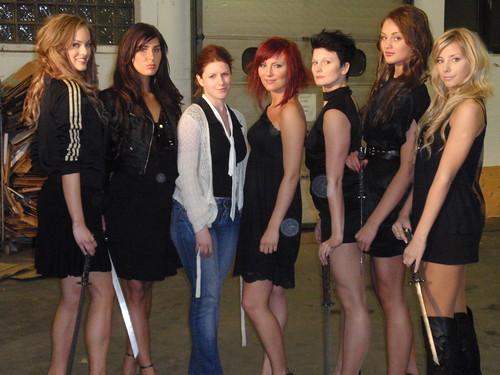 jag, Bea, modeller och dansarna