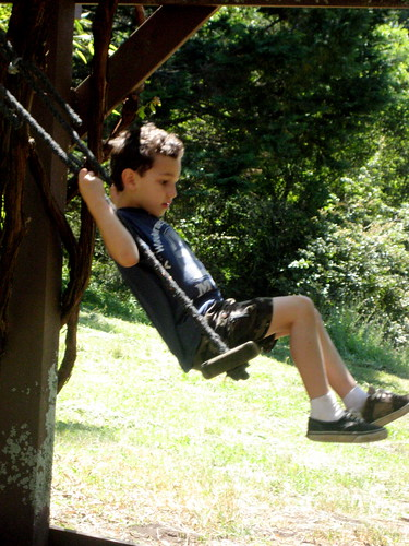 Caleb on the swing