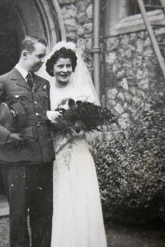 grandmom and granddad at their wedding