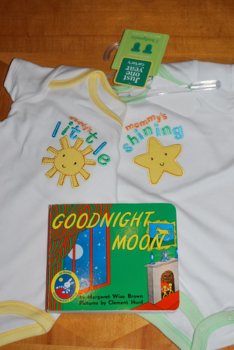 first onesies and book