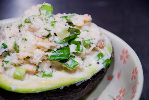 Cilantro-Lime Crab Salad in Avocado Halves