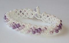 Gradual Lavender Beaded Bracelet (fivefootfury) Tags: wedding purple stripe lavender jewelry lilac bracelet beaded beadwork gradual beadweaving shadesofpurple whiteandpurple ebwteam