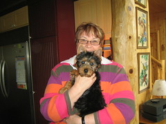 Sue with her new baby Dori!
