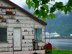 million dollar view (omoo) Tags: house alaska island rainforest needed juneau oldhouse cruiseship douglas spruce gastineauchannel decayed mtroberts clapboardhouse repaipaint