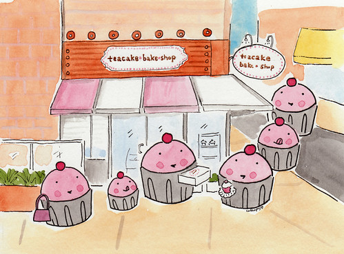 Cuppies in Emeryville, at Teacake Bake Shop