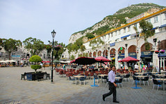 Oudoor Square In Gibraltar (cwgoodroe) Tags: ocean uk england costa sun lighthouse london castle sol beach beer del square airplane colorful europe wind gib military mosque bobby zane pint gibraltar runway policestation fishandchips territory instalation gibralter moneky fedra europapoint airtower angryfriar 3sheets zanelampry corgovesselsummer vesselcollision