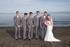 pink groomsmen style blue groomsmen style brown groomsmen style white groomsmen style wedding photo