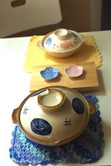 lunch table (bunbunlife) Tags: japan sushi table japanese sauce tray plates bowls luch donburi zakka ichibankan