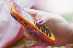 (heartbreaker [London]) Tags: orange black colors yellow berry phone purple bb bold heartbreaker