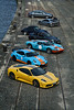 Great line up ([ JR ]) Tags: cars ford coffee up yellow jaune gulf ferrari line exotic antwerp gt scuderia supercar gt2 anvers f430 997 venturi 9ff fialeix