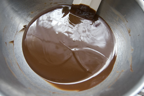 melted chocolate for brownies