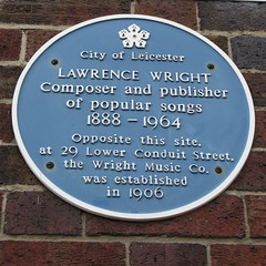Photo of Lawrence Wright blue plaque