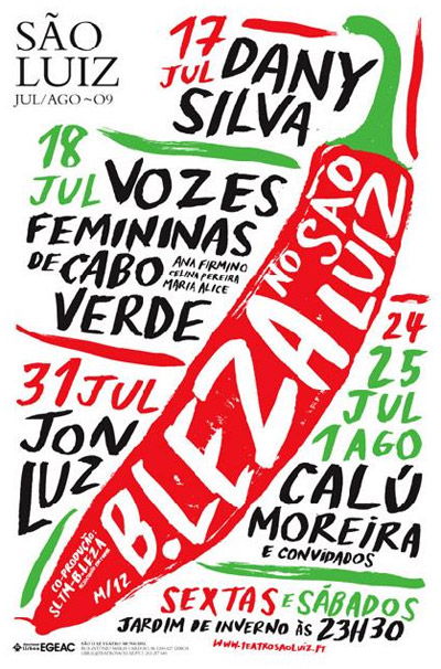 Cartaz - Noites do B.Leza no São Luiz