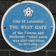 Photo of West Gate, Leicester blue plaque