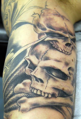 Skull and Cross Bones Tattoo by The Tattoo Studio