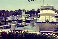 the yacht parking lot (share your widsom) Tags: ocean trees sunset ohio red sun lighthouse brick beach water graveyard leaves june virginia sand focus tombstone southcarolina ground glove summertime yachts 2009 summervacation yellowfever westvirgina hiltonheadisland canonrebelxsi