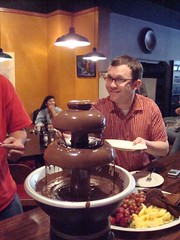 Jim at the chocolate fountain