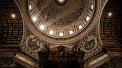 Dome Above St. Peter's Tomb (Sean Molin Photography) Tags: european vacationeuropeitalyrome2009marchvacationitalli vacationeuropeitalyrome2009marchvacationitallian
