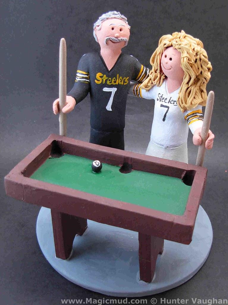 Billiards Wedding Cake Toppers