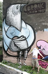 bird (BREakONE) Tags: bird wall effects break poland graffity colored 2009 afx cfs bytom