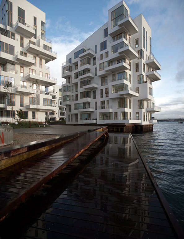 02 Modern Harbor Apartment Design - Sea Front Building