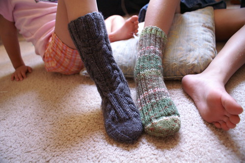 kids knit socks