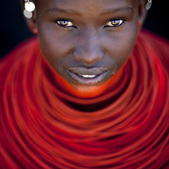 Samburu young girl with red neckalce - Kenya (Eric Lafforgue) Tags: africa wedding portrait people face beads kenya culture tribal explore human tribes bead afrika tradition tribe mariage ethnic tribo gens visage afrique ethnology tribu eastafrica beadednecklace qunia 5580 lafforgue ethnie  qunia artlibres    beadsnecklace kea   absoluterouge  humainpersonne a