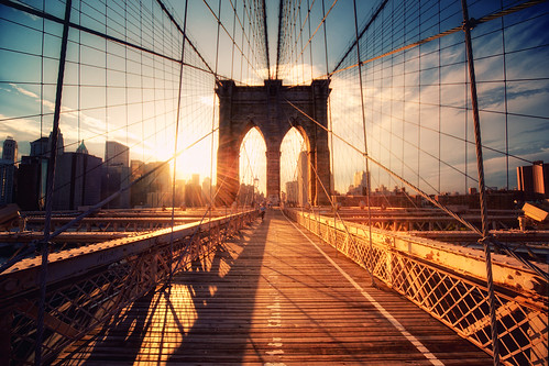 New York - Brooklyn Bridge Sunset / Philipp Klinger Photography