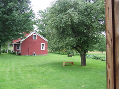 The house from the barn