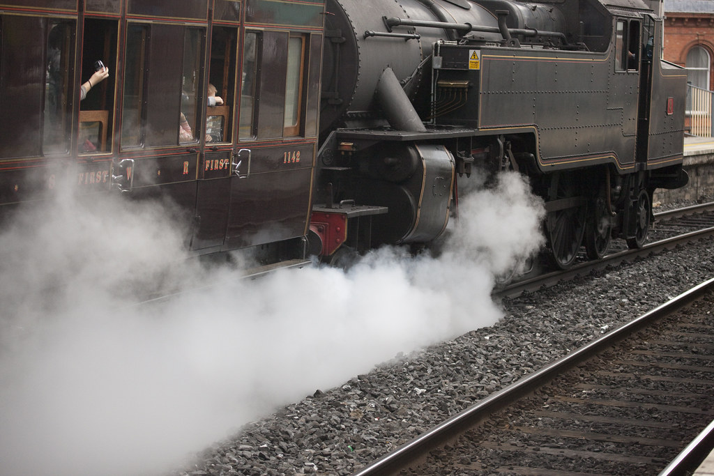 Steam Train - Leaving Connolly Station