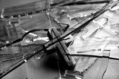 IMG_1299 (D Imaging) Tags: broken glass religious dangerous cross cut religion sharp holy christianity smashed shattered shards crucufix
