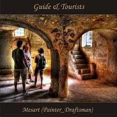 Guide&Tourists in the little historical Mosque(avuin) (painter&draftsman) Tags: turkey trkiye trkei greme turchia nevehir 100commentgroup saariysqualitypictures obramaestra romanticsurrealism