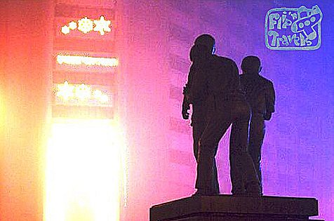 ninoy aquino monument in ayala makait, I took this photo after the new year's eve celebration using a point and shoot camera (2009)