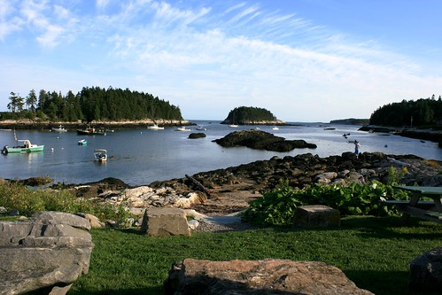 View from Five Islands Lobster Company, Five Islands, Maine