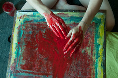 Les mains sales-34 (metatong) Tags: red color painting rouge blood hands acrylic hand main peinture killer murder dexter sang mains guilty murderer coupable acrylique tueur d300 redpaint meurtre meurtrier peinturerouge