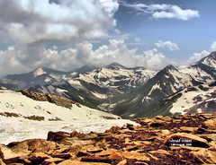 Kashmir from Noori Top. (Explored) (Farrukh) Tags: pakistan sky snow mount