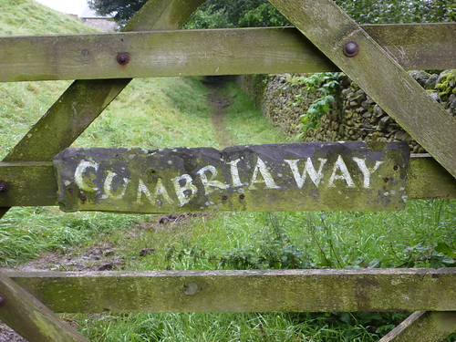 Fantastic slate sign for the Cumbria Way