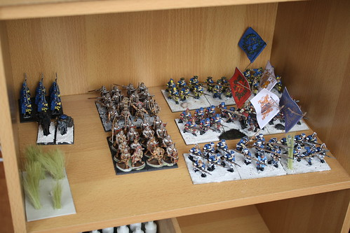 Various completed units waiting for basing