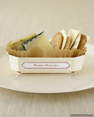 Cheese Starter Place Card (camillestyles) Tags: white cheese marthastewart crackers placesetting placecard camillestylesstylenotesparties
