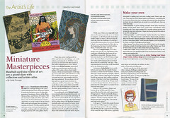 Artists Magazine Oct09 (potatobird) Tags: aceo magazine theartistsmagazine miniaturemasterpieces artcard potatobirdstudio feature article