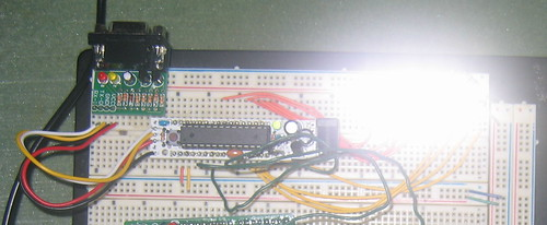 Breadboard LED control - powered on