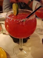 Pomegranite Margarita at El Nuevo Mexicano