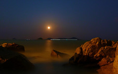 Zhuhai - Full Moon (cnmark) Tags: china blue light sky moon seascape reflection night port landscape geotagged boats noche harbor nacht harbour ships scenic full guangdong noite  nuit notte zhuhai southchinasea pearlriver nachtaufnahme    allrightsreserved jiuzhou  jida jiuzhouport lumixaward  fabbow  geo:lat=22242341 geo:lon=113588907 uploadedonseptember112009 mygearandmepremium mygearandmebronze mygearandmesilver mygearandmegold dblringexcellence tplringexcellence eltringexcellence