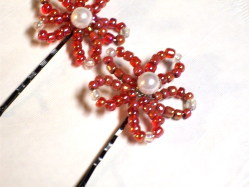 beaded hairpins set