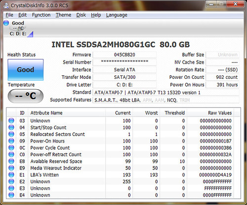 CrystalDiskInfo 3.0.0 RC5