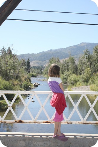 Big sis at the Truckee river by you.